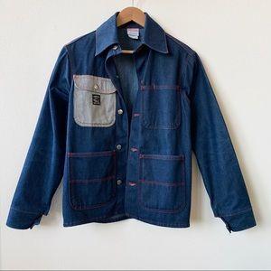 LC King Pointer Brand Denim Chore Coat Jacket XS